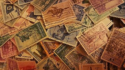 US Used/Canceled Postage Stamps  Set of 70 Different 1c - 4c Large Stamps