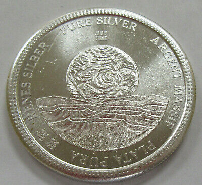 """Rare """"Let Freedom Ring""""  1oz. .999 Fine Silver Round"""
