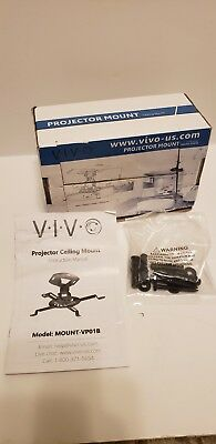 VIVO Universal Adjustable Black Ceiling Projector/Projection Mount Extending