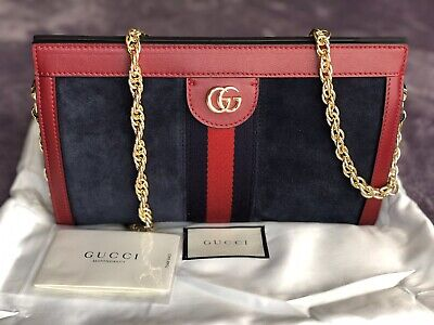 889ffe669 AUTHENTIC Gucci #546368 Blooms GG Supreme Chain Shoulder Bag/Clutch, NWT.