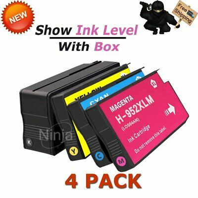 4 PACK HP GENUINE 952XL Ink (NO RETAIL BOX) for OFFICEJET 8710 8210 8720 8730
