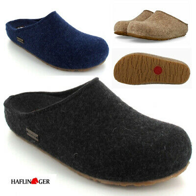 HAFLINGER Grizzly Michl 711033 Pure Wool Felt Slippers Clog Unisex EUR 36-48 NEW