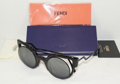 255af9df6ad2 FENDI FF 0137 S NT2 CN Shiny Black Matte Black Women s Round Cat Eye ...