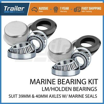 2x Marine / Boat Trailer LM Wheel Bearing Kits with CUPS suits Holden Axles