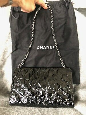 4e7a31df CHANEL RARE AUTHENTIC White Quilted Embossed Leatther Precious ...