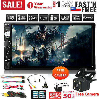 """7"""" 2Din HD Touch Screen Android IOS Car Stereo MP5 Player FM Radio USB/TF USA"""