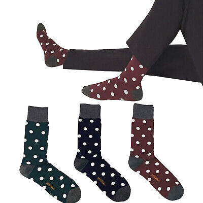 Lawford By Hortons of Oxford UK POST Mens Quality Hot Pink Spotty Dress Socks