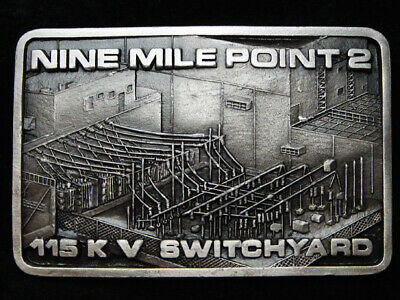 PF25129 VINTAGE 1980s *NINE MILE POINT 2 115 K SWITCHYARD* NUCLEAR ENERGY BUCKLE