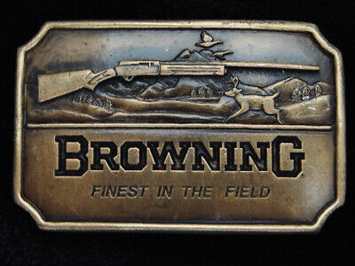 QK03173 *NOS* VINTAGE 1970s **BROWNING** GUN & FIREARM COMPANY BELT BUCKLE