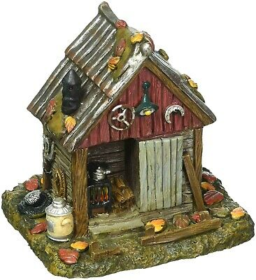 Backwoods Tool Shed Dept 56 Snow Village Halloween 6001743 accessory backyard A