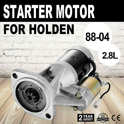 Starter Motor Fits Holden Rodeo TF 4WD Diesel 88-04 Replacement 2.8L 4JB1T