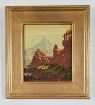 Fritioff Persson (b.1897) California Antique Early Grand Canyon GEM Oil Painting
