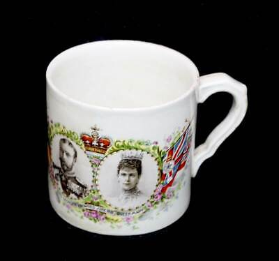 Antique Cheltenham King George V & Queen Mary 1911 coronation mug