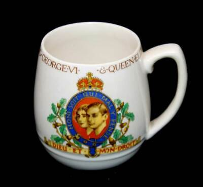 Vintage King George VI & Queen Elizabeth 1937 coronation mug