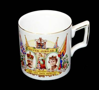 Vintage Wagstaff & Brunt King George V & Queen Mary 1935 Silver Jubilee mug