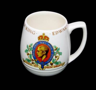 Vintage Bovey Pottery Coronation of King Edward VIII commemorative mug