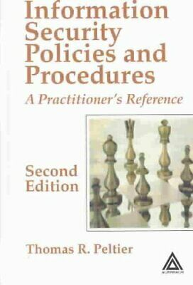 Information Security Policies and Procedures A Practitioner's R... 9780849319587