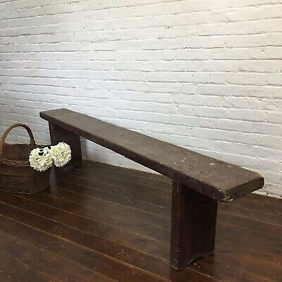 Industrial Vintage Antique Wooden Kitchen Rustic Hungarian Bench