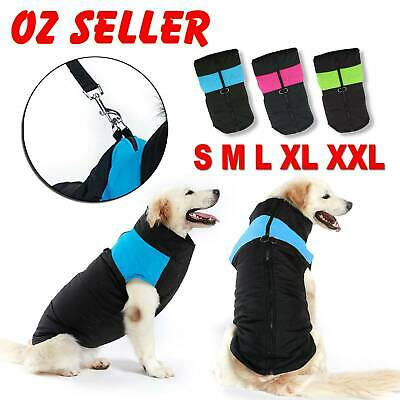 Large Small Dog jacket Padded Waterproof Pet Clothes Warm Vest Coat Winter 2019