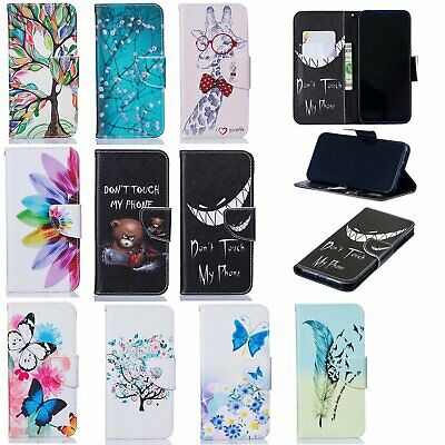 For Xiaomi Redmi Note 7 6 5 Pro F1 Painted PU Leather Wallet Stand Case Cover