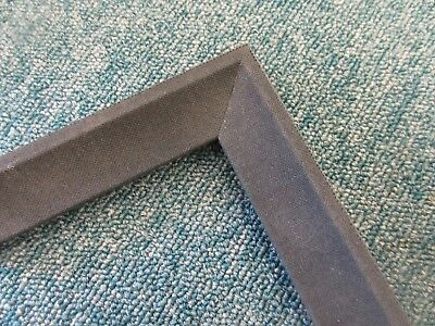 4 x 70cm lengths 2.8m Black Linen Wooden Picture Frame Fillet Slip Moulding 28mm