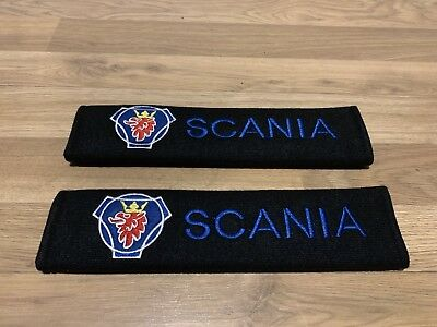 2X Seat Belt Pads Gifts Truck Lorry Scania G P R S Series 124 114 Camion HGV LGV