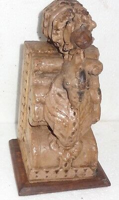 1900s Architectural Wood Corbel redefine wall fixing decor Carved bird Color Q-1