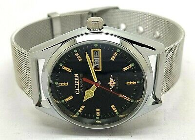 Seiko 5 Automatic Men,s Steel Vintage Blue Dial Made Japan Watch Run Order