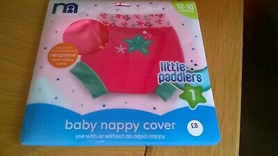Mothercare Baby Swim Nappy Cover Pink 12-18 Months School Approved Neoprene