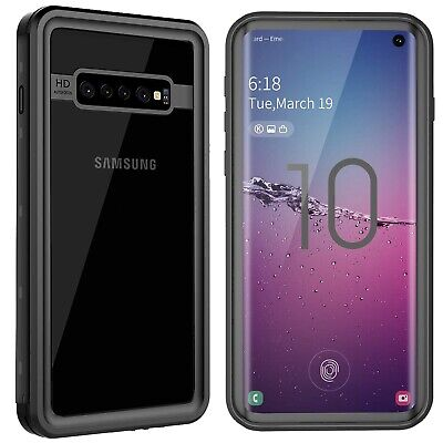 For Galaxy S10 Plus Waterproof Case Built-in Screen Protector Heavy Shock Cover