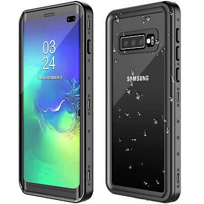 For Galaxy S10 Plus protective Case Waterproof Shockproof Built Screen Protector
