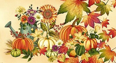 Henry Glass ~~Autumn Harvest  Panel~~Fabric Panel/Free P&P  Clearance Sale~~~