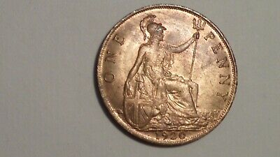 1920 Penny. UNC. Much Lustre. George V. 1911-1936. British Milled..#1921 REDUCED