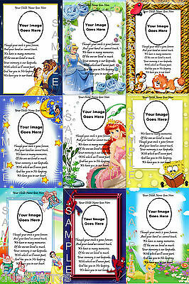 Personalised Childrens/Childs Photo Birthday/Remembrance/Grave/Memorial Card