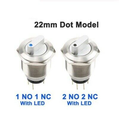 19mm 1NO1NC Two Position Maintain 12V LED Stainless steel Knob switch CE,UL,ROHS