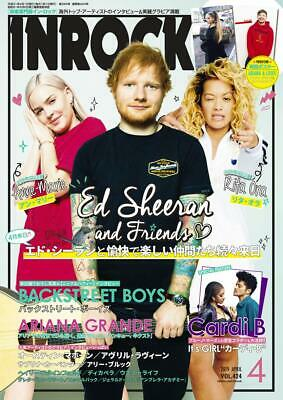 IN ROCK Ed Sheeran Cover Japan Music Magazine Apr 2019 Rita Ora BSB Cardi B more