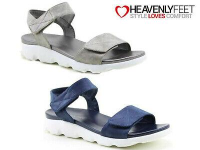 Ladies Summer Comfort Sandals Touch Fastening Cushioned Sole Lightweight Shoes