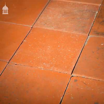 """Batch of 205 Reclaimed Red 8x8"""" Inch Quarry Tiles"""