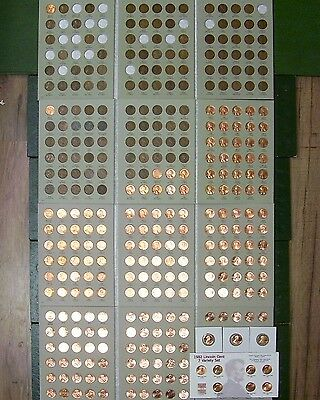 lincoln penny set collection  1909 vdb-2018 p d s wheat cent 's