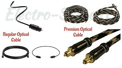 Digital Optical Audio Cable Premium Regular Fiber Optic TOSLINK S/PDIF Cord Lot