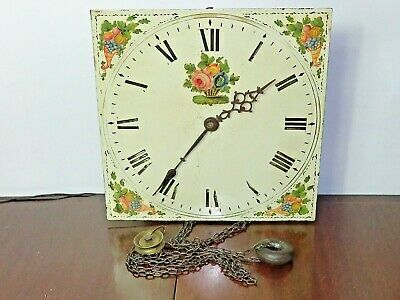 "Antique 30 hour longcase clock movement & 12"" dial"