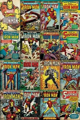 Iron Man - Marvel, Covers Poster Affiche (91x61cm) #84862