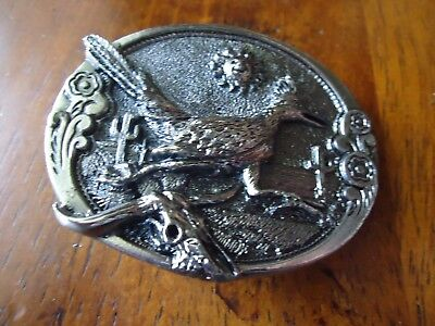 Belt Buckle GABC 1981 VTG Pewter Joe White Road Runner approx. 2.75 x 2 in (H)