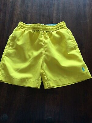 Boys Polo Ralph Lauren Swim Shorts. Age 6. Yellow