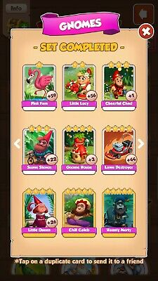 Coin master cards from level 1 to 80  just let me know what you need NO GOLD