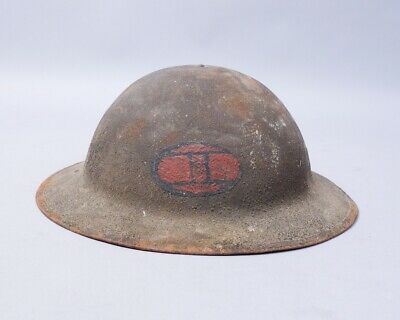 Estate Found WWI US 30th Infantry Division Old Hickory Doughboy Helmet