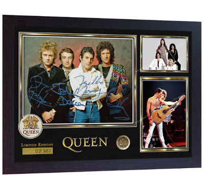 Freddie Mercury & Queen signed autographed Music pre-print poster photo Framed