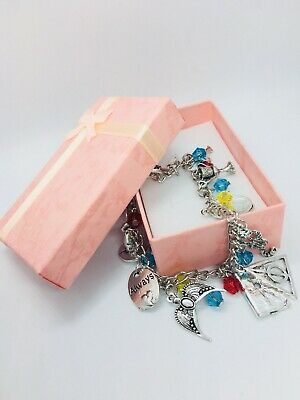 USA Seller Harry Potter Combination  charm Silver women  Bracelet  ! Great Gift