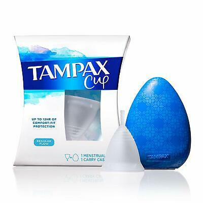 New TAMPAX Menstrual Cup (Use instead of tampons) 12-Hr Protection, Regular Flow
