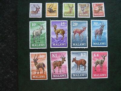 Malawi: 1971 Antelope Definitive Set mint